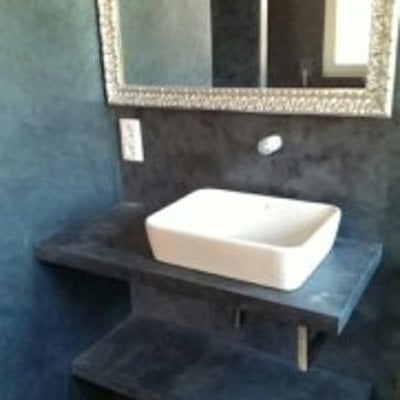 lavabo en micro cemento