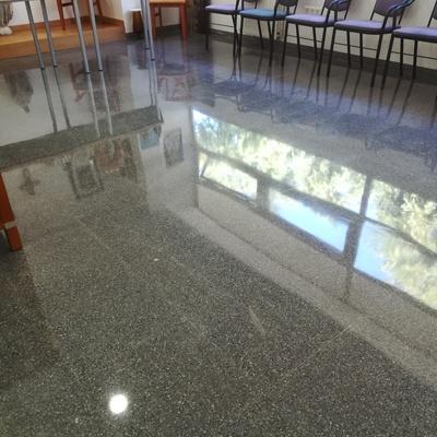 cristalizado de suelo de terrazo
