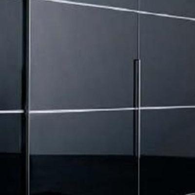 frente de armario corredera negro lacado