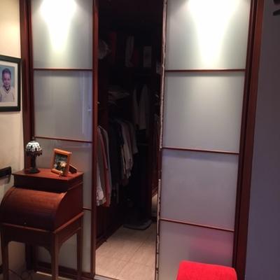 puertas correderas vestidor -cristal lacobel blanco