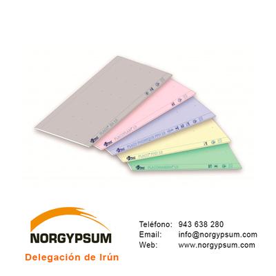 Gran variedad de placas de yeso laminado