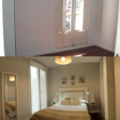 Antes y después dormitorio