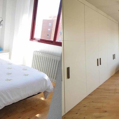 Antes y despues dormitorio vivienda alcobendas