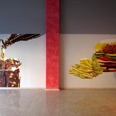 Decoración mural comercial