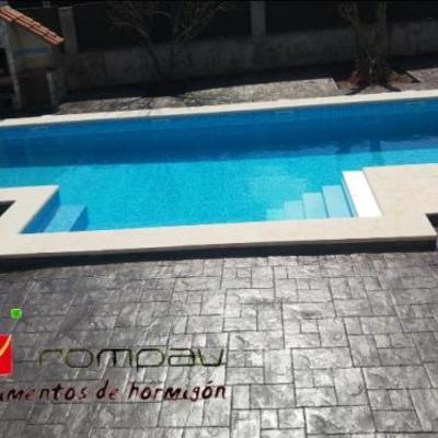 Hormigon impreso piscinas