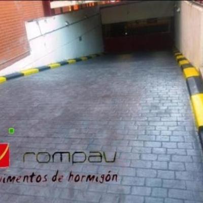 Rampa acceso garaje comunitario Alcala de Henares