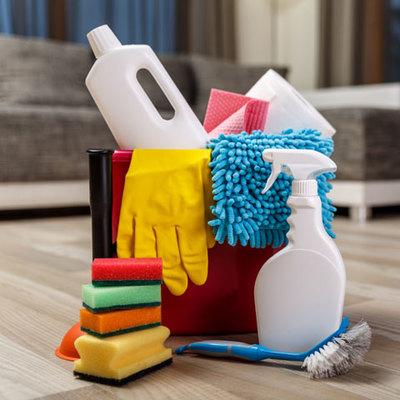 Productos de limpieza incluidos