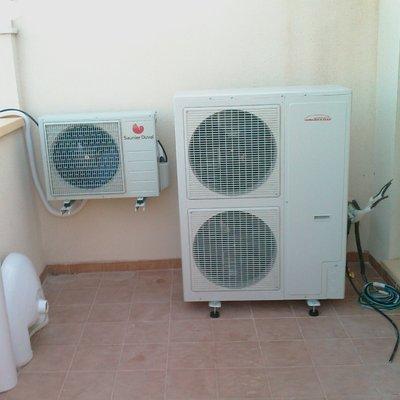 Instalación aire acondicionado vivienda unifamiliar