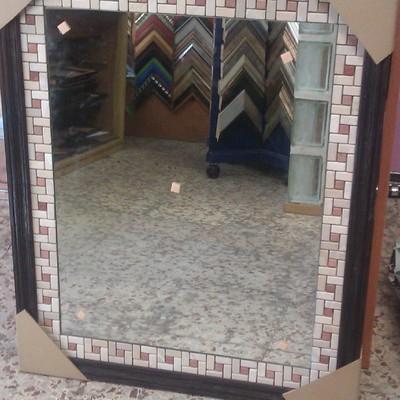 espejo+ azulejos+moldura