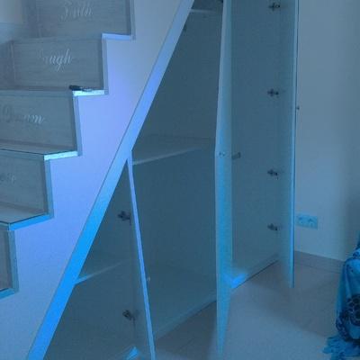 armario de bajada atico 3 puertas y 1 espejo