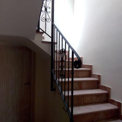 Baranda de forja para escalera