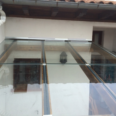 Techo de vidrio laminado