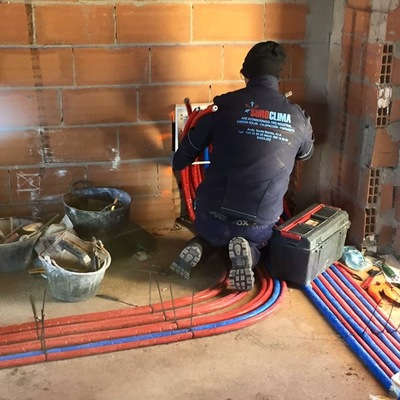 Instalación de calefacción por colectores