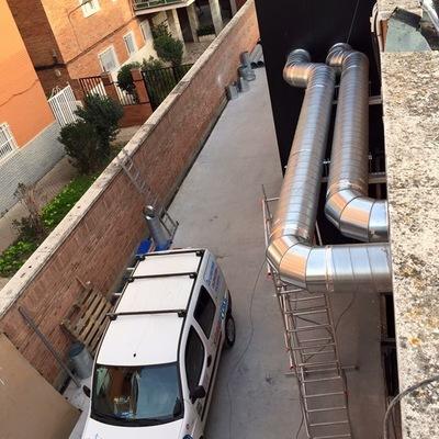 Instalación ventilación gimnasio rock gym Badajoz