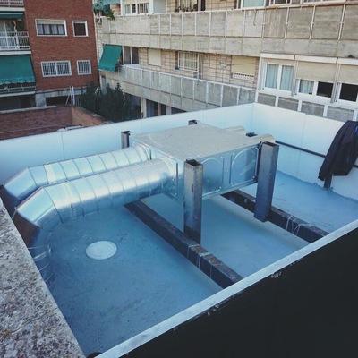 Ventilación gimnasio rock gym Badajoz