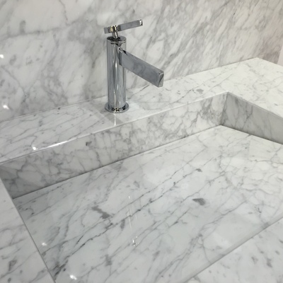 Lavabo de mármol arabescato