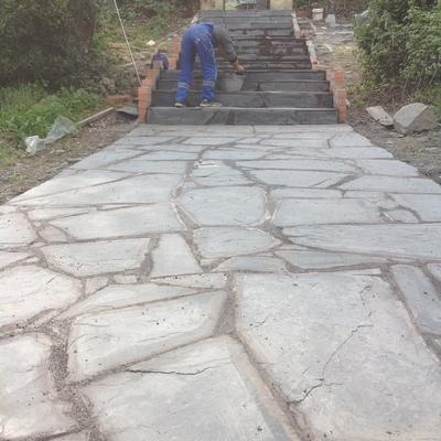 Terraza y escalera