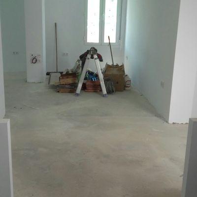 Preparación de suelo para colocación de tarima flotante