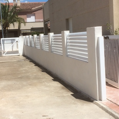 Muro de bloquets