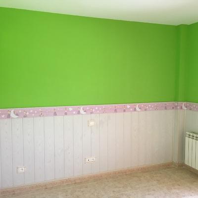 Friso, alisado y pintura de habitacion 2