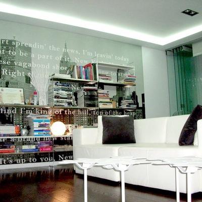 Salón minimalista - Estanteria