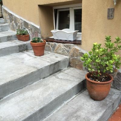Escaleras de hormigón impreso