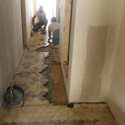 Recuperación suelo mosaico