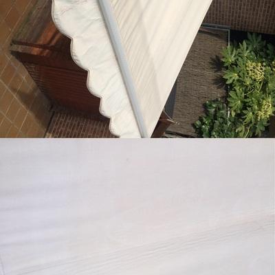Limpieza de toldo blanco