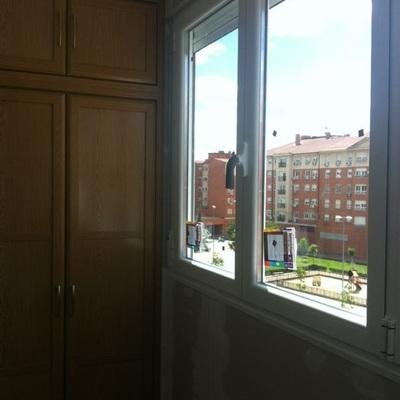 Terraza, armario y tabique