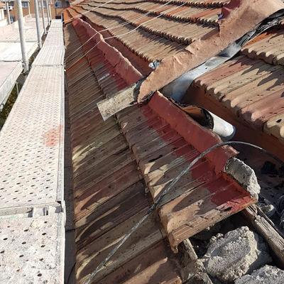 Reforma tejado antes