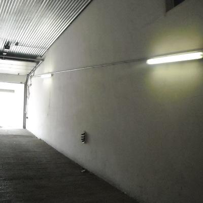 Alumbrado en rampa de garaje
