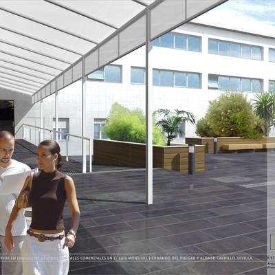 Reforma de patio comunitarios en edificio de oficinas