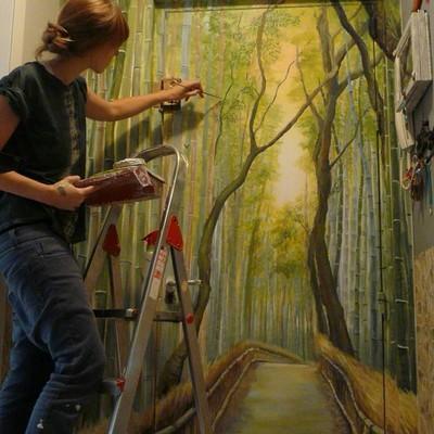 Mural pintado a mano