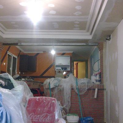 Salón con techo a 2 alturas