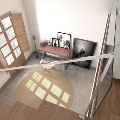 Diseño de un ático con terraza solarium