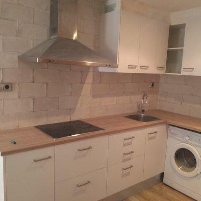 cocina en pequeño apartamento