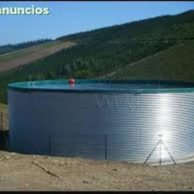 deposito metalico para almacenar agua
