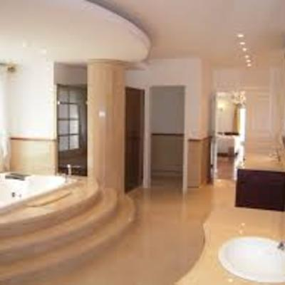 Impresionante ampliación de baño en villa privada