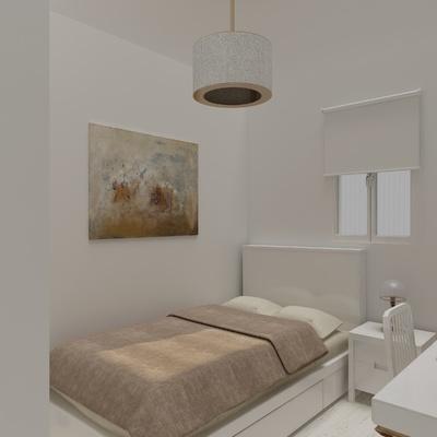 Render de un dormitorio que hemos hecho en Barcelona
