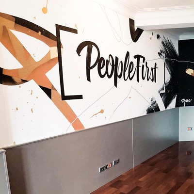 Mural en oficina