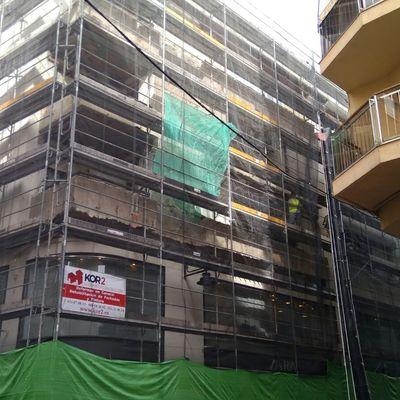 Rehabilitación fachada edf. ZARA, Algeciras