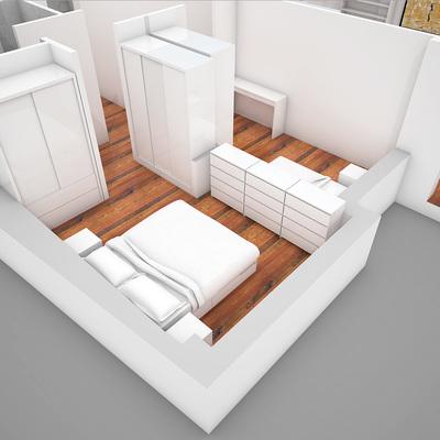 Render de un piso que hemos reformado en Barcelona