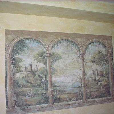 mural incrustado en pintura de paredes