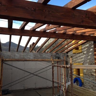Estructura madera laminada.