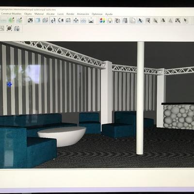 Realizando el proyecto de una sala para discoteca en Cala Millor