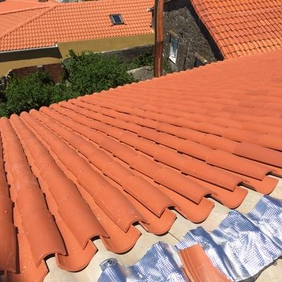 Vista del nuevo tejado