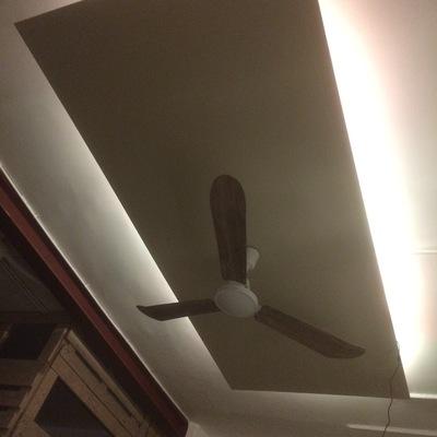 Lámpara de techo a medida con ventilador