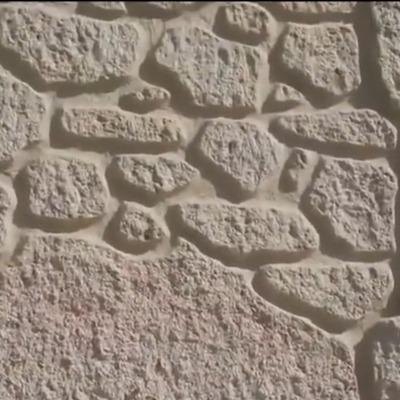 Muro rústico exterior