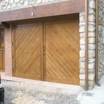 Instalación puerta garaje.