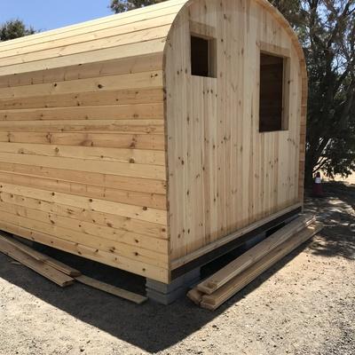 Estructura sin aislamento termico casitas de madera